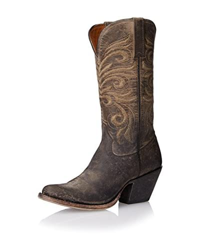 Lucchese Women's Western Distressed Boot  [Anthracite]