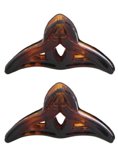 Caravan Mini French Triangle Tie Open Fashion Hair Claws Tortoise Shell Pair
