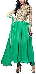 Fabiola Trendz Women's Cotton Silk Unstitched Dress Material (Orange)