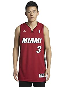 NBA Miami Heat Dwayne Wade Swingman Jersey, Red, Medium