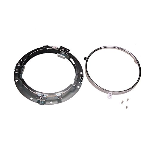 7inch round headlight ring mounting bracket for harley