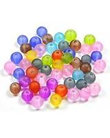 Imagine Perles - Lot 50 perles de verre givrées 6 mm