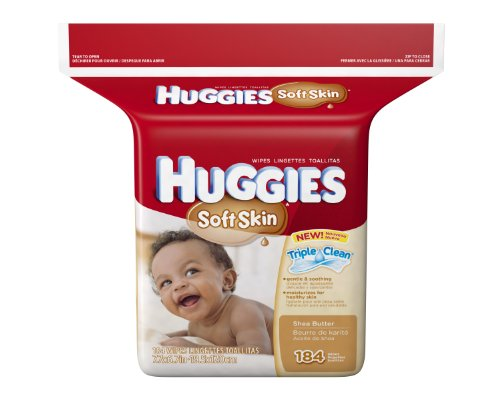 Huggies Soft Skin Baby Wipes, Refill, 552 Total