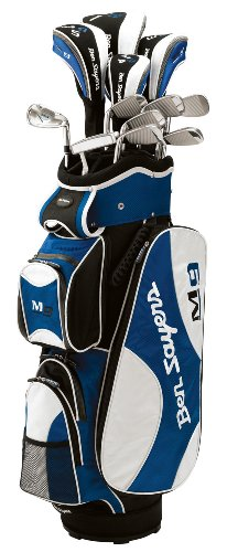 Ben Sayers M9 G4950 Men's  Package Set - Cart Bag, Steel/ Graphite, Blue/White Right Hand Regular