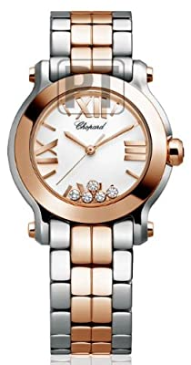 Chopard Happy Sport Mini Ladies Diamond Watch - 278509-6003