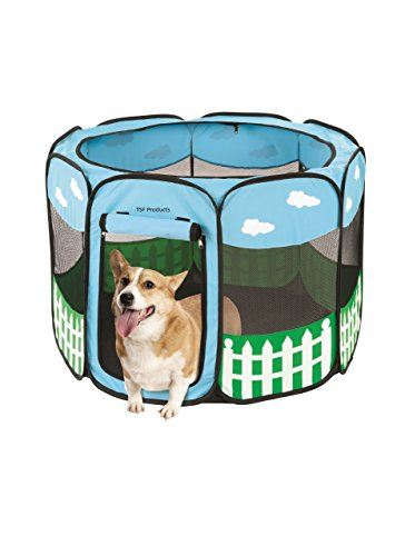 Pet-Portable-Foldable-Play-Pen-Exercise-Kennel-Dogs-Cats-Indooroutdoor-tent-for-small-medium-large-pets-Animal-Playpen-with-Pop-up-mesh-cover-great-for-travel