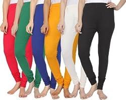 Shivs collection pink/green/blue/yellow/black/white cotton legging