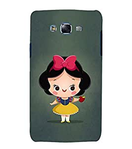 Fuson Premium Back Case Cover Cute baby with apple With Yellow Background Degined For Samsung Galaxy Grand i9080:::Samsung Galaxy Grand i9082
