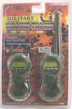 Toy Military Walkie Talkie With Flexible Antennae