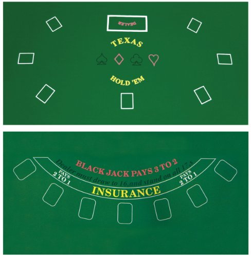 Read About Da Vinci 2-Sided 36-Inch x 72-Inch Texas Holdem & Blackjack Casino Felt Layout