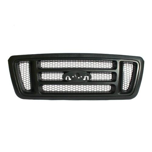 CarPartsDepot Grille Assembly Front Black, 400-18152 FO1200465 5L3Z8200EA (Ford F150 2008 Front Emblem compare prices)