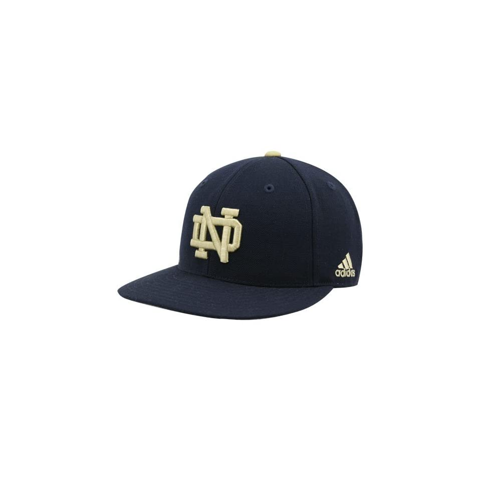 adidas Notre Dame Fighting Irish Navy Blue Flat Brim Fitted Hat