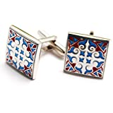 Gex® Classic Vintage Engraving Exotic Style Men's Shirt Cufflinks Cuff Links with Gift Box Gift for Boyfriend
