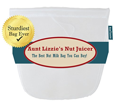 Pro-Quality Almond Milk Bag; Large, Free-Standing Nut Milk Bag, Make Homemade Pulp-Free Almond Milk for Paleo, Lo-Carb and Vegan Diet, BPA-Free, Food Grade Nylon Mesh, Makes Cold Brew Coffee (Almond Milk Press compare prices)