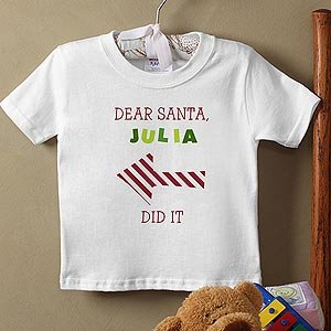 Personalized Baby Christmas T-Shirt - Dear Santa