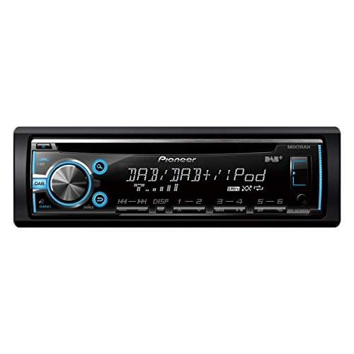 DEH-X6700DAB CD-Tuner (RDS, DAB+, Mixtrax, Front-USB, Aux-In, Apple iPhone/iPod-Direktsteuerung, Android Media Compatible) schwarz