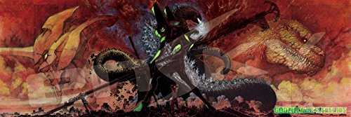 950ピース ジグソーパズル ゴジラ対エヴァンゲリオン 紅蓮の神話(34x102cm)