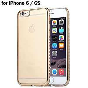 Plated Edge Back Case Protector for iPhone 6 / 6S - GOLDEN