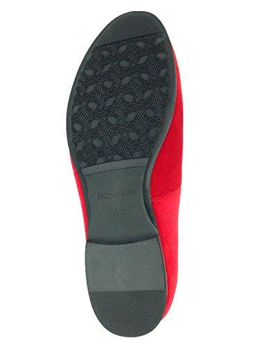 Men's Vintage Velvet Embroidery Noble Loafer Shoes Slip-on Loafer Smoking Slipper Black/Red/Blue 3