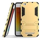 Gulwan Military Grade Armor Defender Cover For Xiaomi Redmi 4A Back Cover In Gold Colour