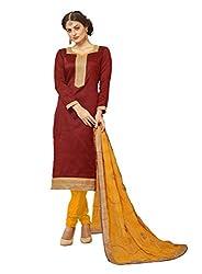 Subhash Sarees Daily Wear Brown Color Banarasi Silk Salwar Suit Dress Material