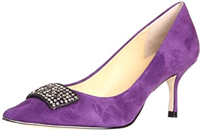 Ivanka Trump Women's Idalia Pump,Purple Suede,7.5 M US