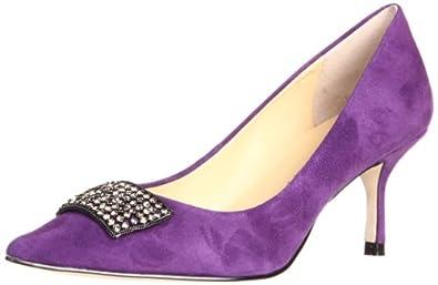 Ivanka Trump Women's Idalia Pump,Purple Suede,8.5 M US