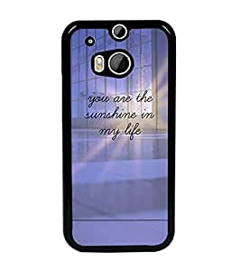 PrintDhaba Quote D-4896 Back Case Cover for HTC ONE M8 (Multi-Coloured)