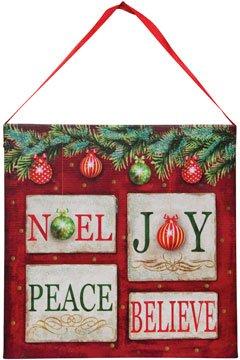 Led Lighted Canvas Print Noel Joy Peace Believe Country Primitive Christmas Décor
