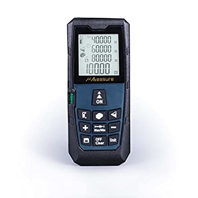 MS-80A Portable Laser Measure Laser Distance Measurer, Laser Range Finder 320ft/100m,Tape Measure 0.05 to 100m,Mini Handheld Digital Laser Distance Meter