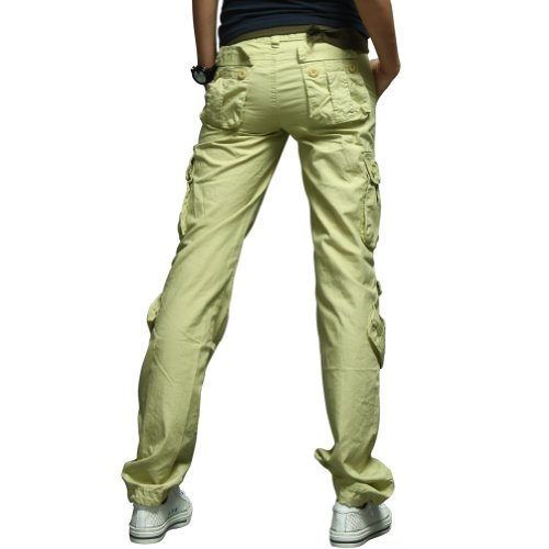 Amazing Match Womens Petite Boyish 8 Pockets Utility Cargo Pants 2036  Movie