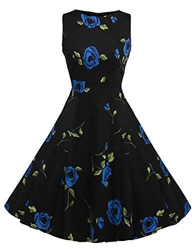 knielang partykleid cocktailkleid abendkleid rockabilly damen vintage 51er petticoat. Black Bedroom Furniture Sets. Home Design Ideas