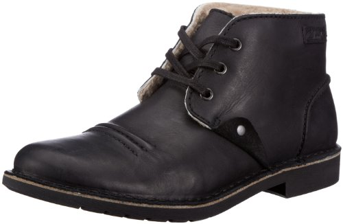 Clarks Motive Mix Boots Mens Black Schwarz (Black WLined Lea) Size: 10 (44.5 EU)