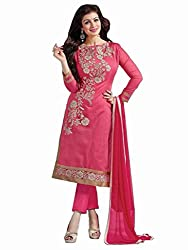 Special Pink Casual Wear Designer Cotton Salwar Suit