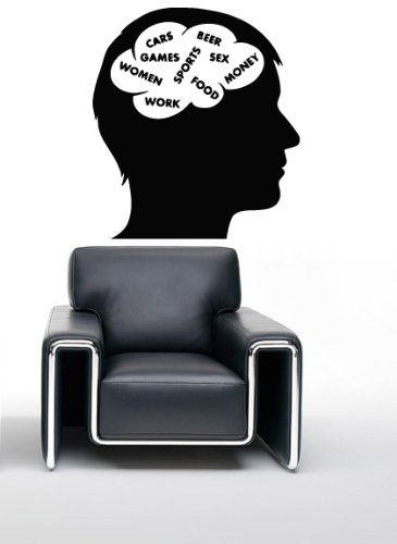 Wall Stickers Vinyl Decal Man Thinking Sex Machines Women ig009