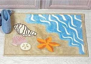 Amazon.com  Sea Shell Ocean Beach Bathmat Rug Starfish Sand Dollar