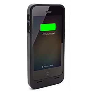 iPhone 5S Battery Case, Lenmar Meridian 2300 mAh MFI Approved [Slim] [Extended Battery Charger] [100% Additional Battery Life], Black