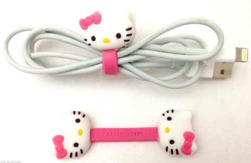 Hello Kitty Wire Cord Holder Organizer For Earphone Headphone Iphone