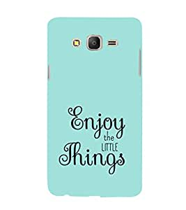 EPICCASE Enjoy the little things Mobile Back Case Cover For Samsung Galaxy E7 (Designer Case)