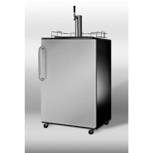 Summit Sbc490Sstb Beer Dispenser - Stainless Steel Door / Black Cabinet front-905399