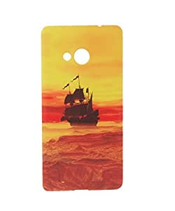 Exclusive Soft Silicone Case Cover For Nokia Lumia N535 - Boat in Sea