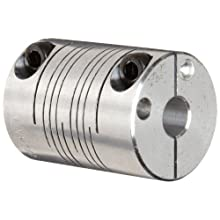 Ruland PCR Clamping Beam Coupling, Polished Aluminum, Inch
