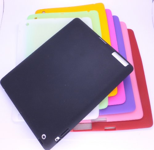 CyberTech® Premium Quality Soft Silicone Skin Case for The New iPad 4, 3 & iPad 2 (Color: Black)
