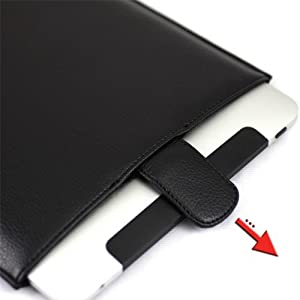 90% Off CaseCrown Faux Leather Professional Slip Sleeve Case (Black) for the Apple iPad