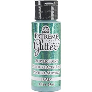 Folk Art 2838 Extreme Glitter 2-Ounce Acrylic Paint, Aqua