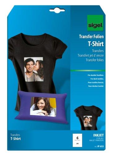 sigel-ip653-papel-transfer-para-imprimir-camisetas-de-colores-oscuros-6-hojas-a4