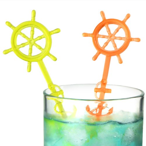 Anchor Cocktail Stirrers - Pack of 50 | Plastic