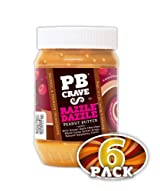 PB Crave Natural Peanut Butter, Razzle Dazzle, 16oz Jars, (Pack of 6)