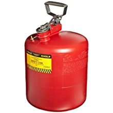 "Eagle 1543 Type I Safety Can, 12-1/2"" Width x 17"" Depth, 5 Gallon Capacity, Red"