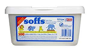 Soffs Baby Wipes, 100-count Tubs (Pack of 12)